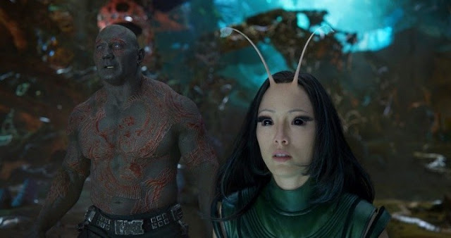 Mantis y Drax en Guardians of the Galaxy Vol 2