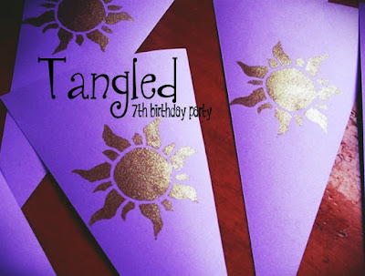 7th birthday Tangled Party