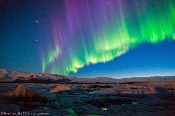 Aurora Cantik Mewarnai Langit Islandia  Info Astronomy