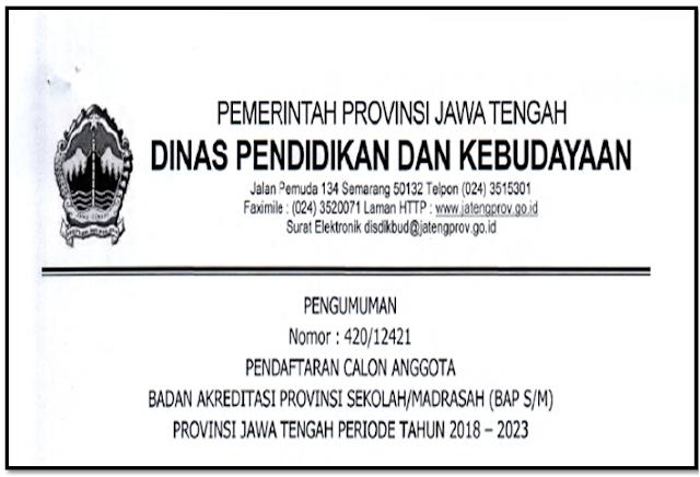 Tata Cara pendafatran calon BAP Provinsi Jawa tengah tahun 2018