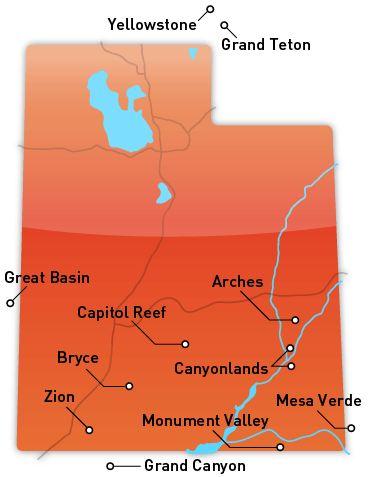 National Parks Of Utah Map.Enjoy Utah Free National Parks Week