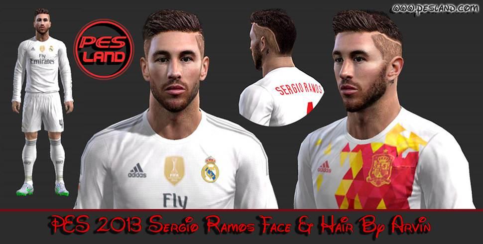PES 2013 Sergio Ramos (Real Madrid) 2016 Face   New Hair b6792090b