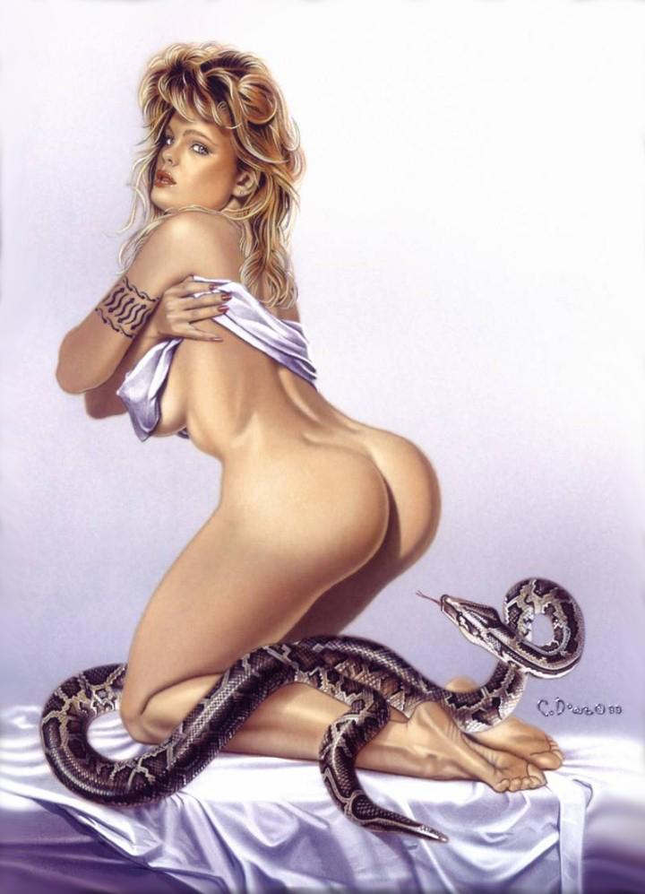 Художник Carlos Diez. Sexy Dreams Pin-ups 6