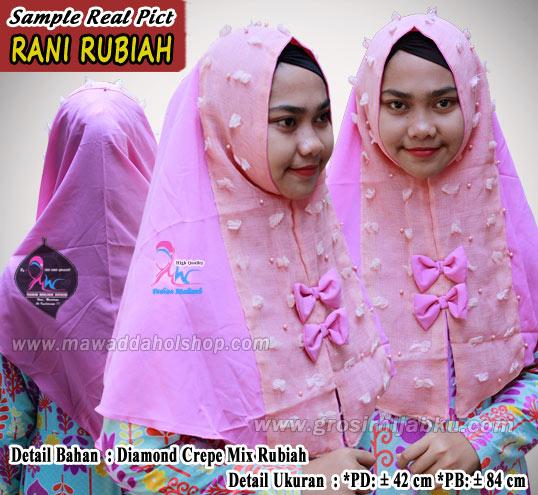 Jilbab Diamond Crepe Terbaru Kombinasi Bahan Rubiah