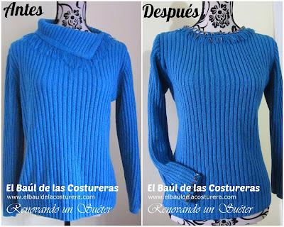 como transformar un suéter viejo