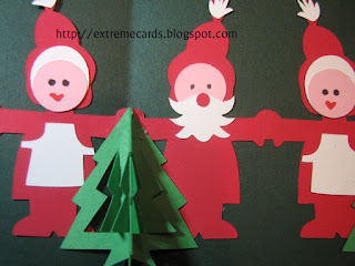 Santa and Mrs. Santa pop up card