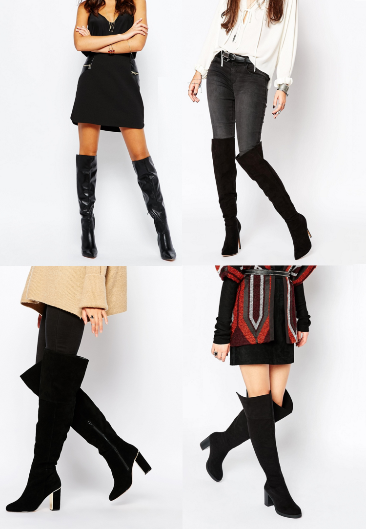 b60977e9557 Carvela Will Tan Studded Suede Flat Pull On Over The Knee Boots - £220.00 ·  ASOS Ka Ching Over The Knee Boots - £33.00