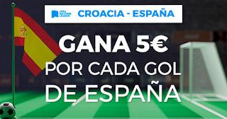 Paston promocion 5 euros por gol Croacia vs España 15 noviembre