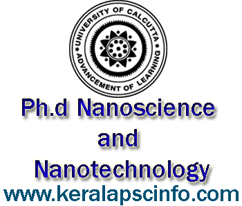 University of Calcutta Ph.d Nanoscience and Nanotechnology admission 2014 details and download application form, www.caluniv.ac.in