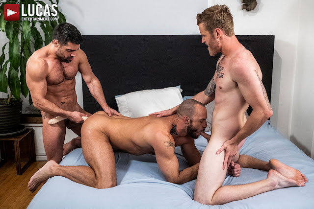 LucasEntertainment - JESSIE COLTER TAKES WAGNER VITTORIA AND SHAWN REEVE'S RAW COCKS