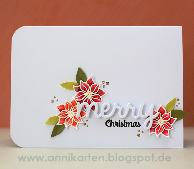 Sunny Studio Stamps: Christmas Icons Poinsettia Holiday Card by Anni Lerche.