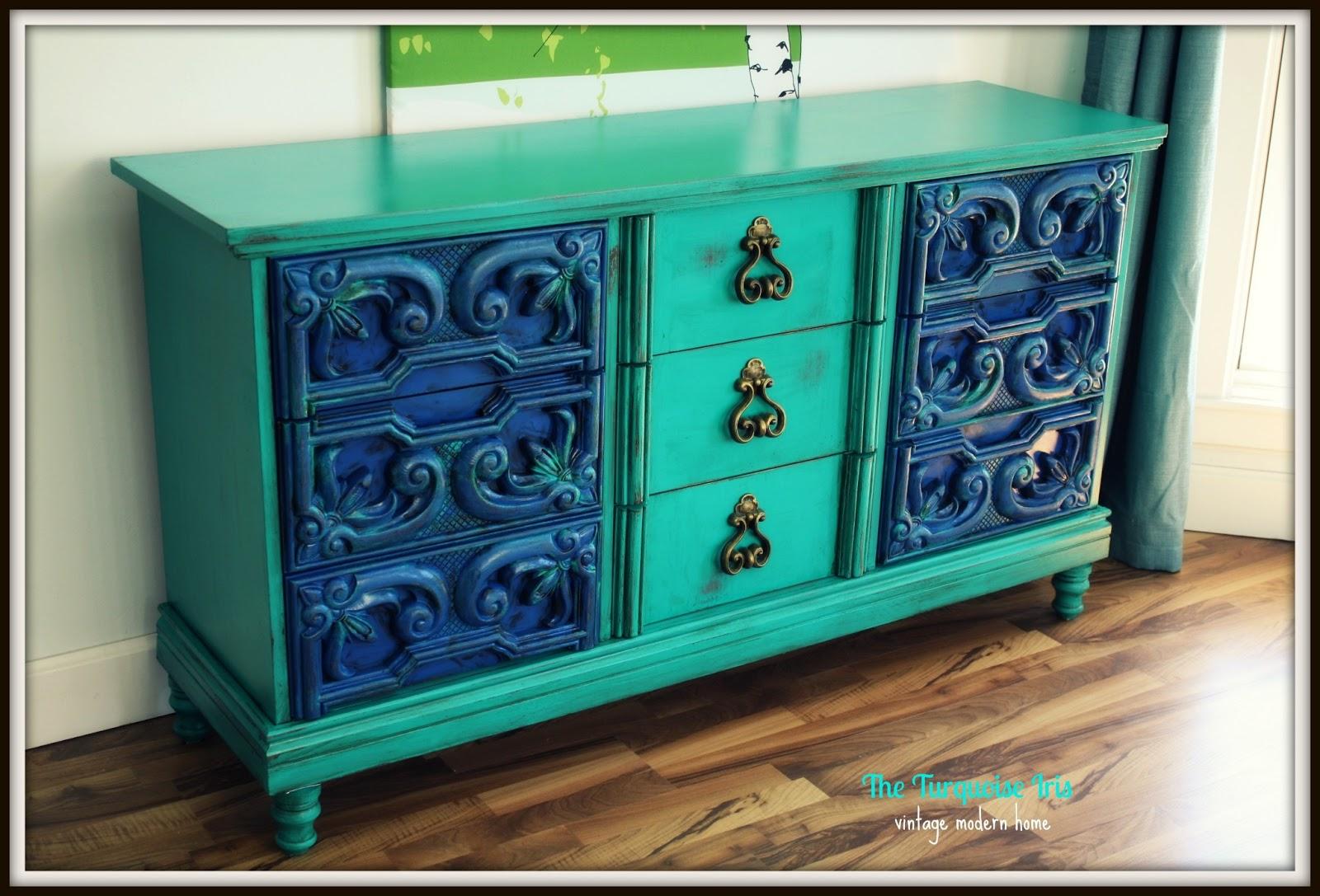 The Turquoise Iris Furniture Amp Art Vintage Dresser In