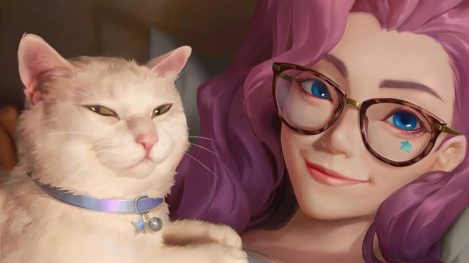Seraphine, LoL with Cat, 4K, #5.2675