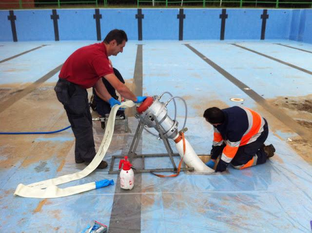 reparación tuberías con manga Bilbao