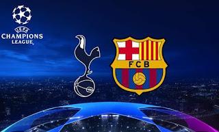 بث مباشر مباراة برشلونة و توتنهام مباشر بدون تقطيع دوري ابطال اوروبا