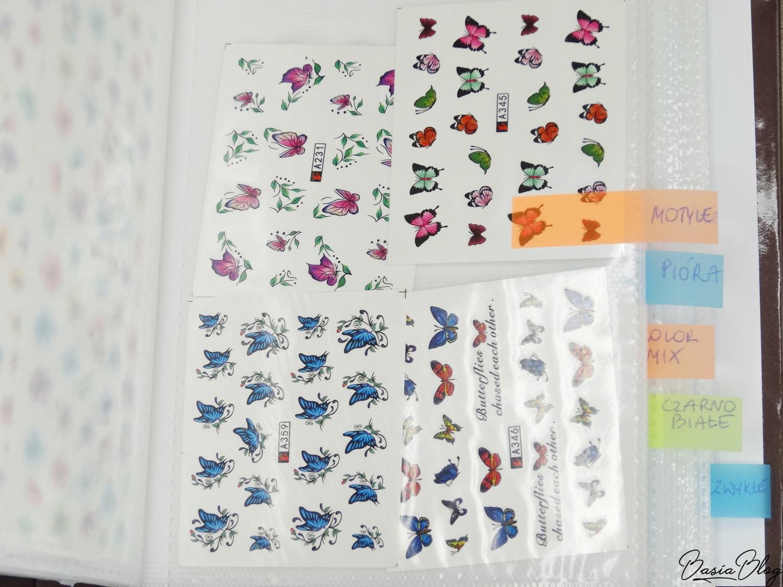 AliExpress haul, zakupy z AliExpress, ozdoby do paznokci, gadżety, przechowywanie naklejek wodnych do paznokci