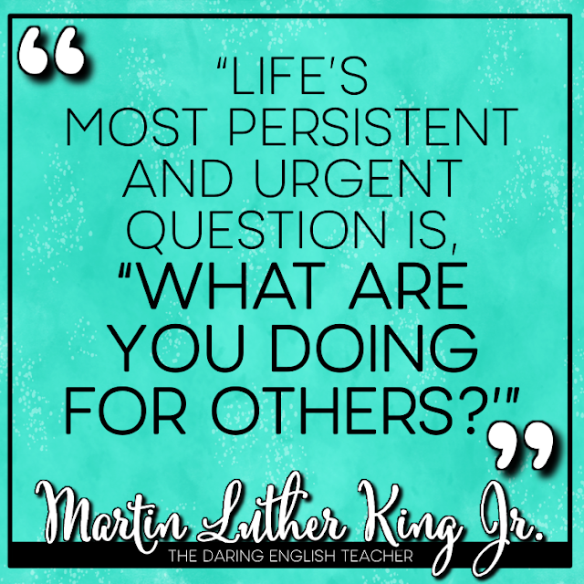 Inspirational quotes for teachers from Dr. Martin Luther King Jr.