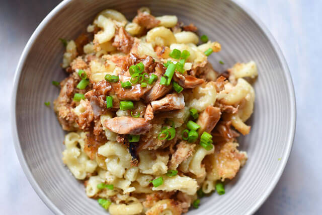 Winter Comfort Food Recipe: BBQ Chicken Macaroni & Cheese from With Two Spoons