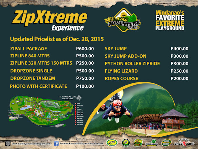 Dahilayan Adventure Park Rides Fees and Info