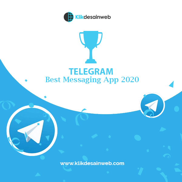 telegram, whatsapp, media komunikasi bisnis, klikdesainweb