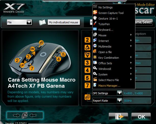 Cara Setting Mouse Macro A4Tech X7 PB Garena dengan Cepat dan Mudah