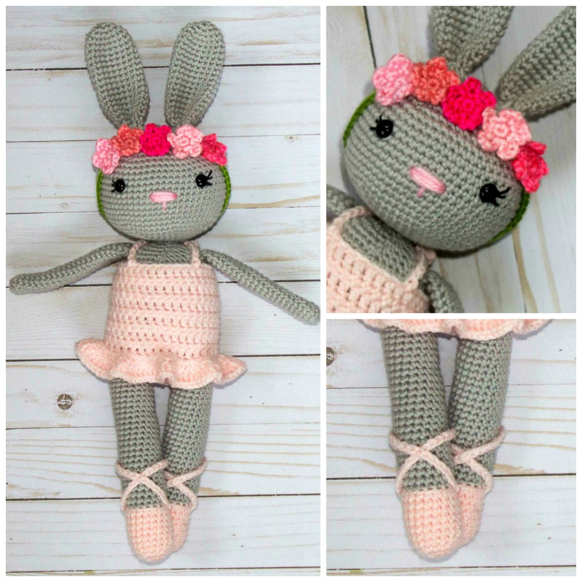 Ballerina Bunny Crochet Pattern - thefriendlyredfox.com