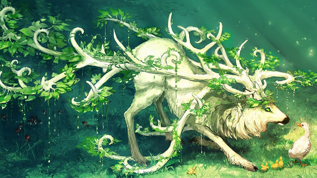 Fantasy Wildlife Abstract Animal Creative Design Art Hd Wallpaper