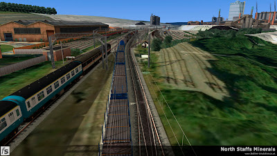 Fastline Simulation - North Staffs Minerals: A busy moment at Grange Junction in North Staffs Minerals, a route for RailWorks Train Simulator 2012.