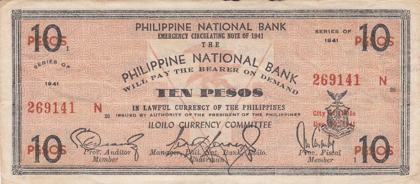 1941 P-S216 Emergency Notes WW II CEBU Circulated Philippines 5 Pesos