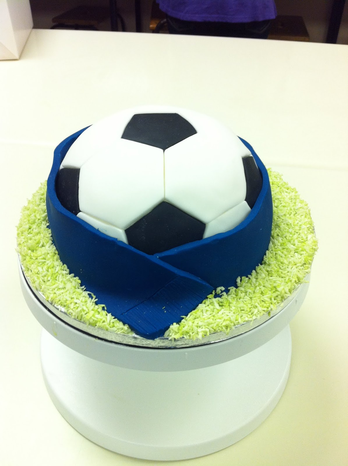 How To Make Coconut Grass For Football Cake
