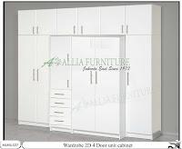 Lemari minimalis model unit cabinet 2D