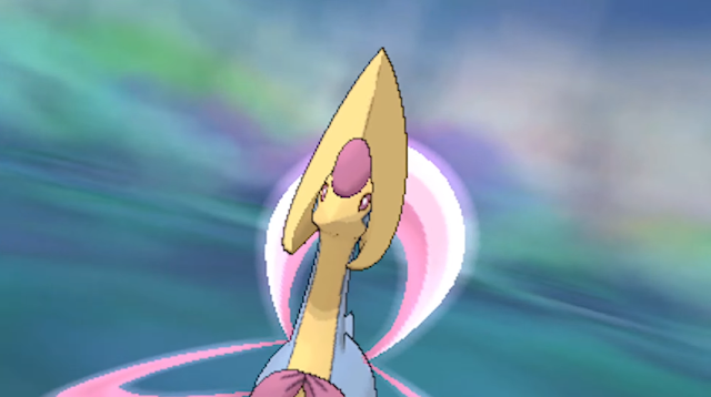 Lady Cresselia Pokémon Ultra Sun Moon model sprite wormhole encounter
