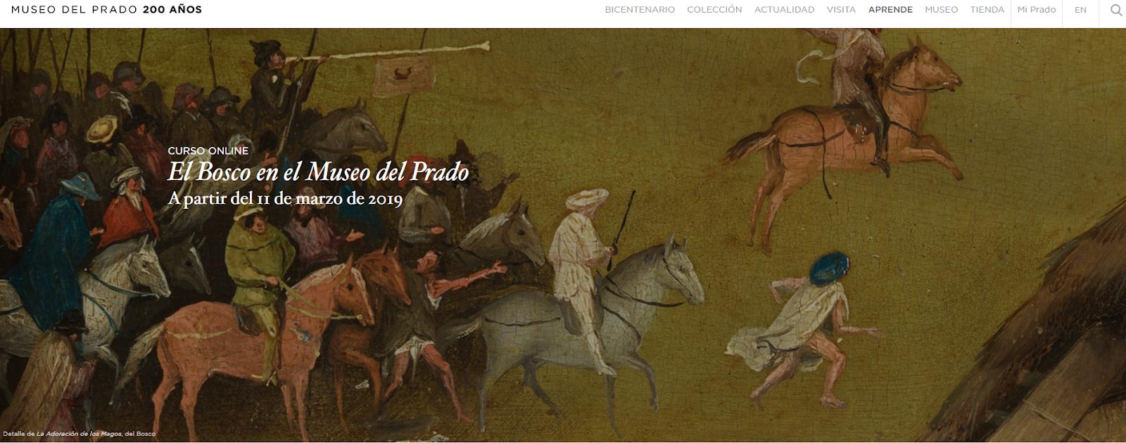 da21a4b21 CURSO ONLINE. MOOC El Bosco en el Museo del Prado A partir del 11 de marzo  de 2019 en colaboración con telefónica @telefonica en @museodelprado  @Miriadax