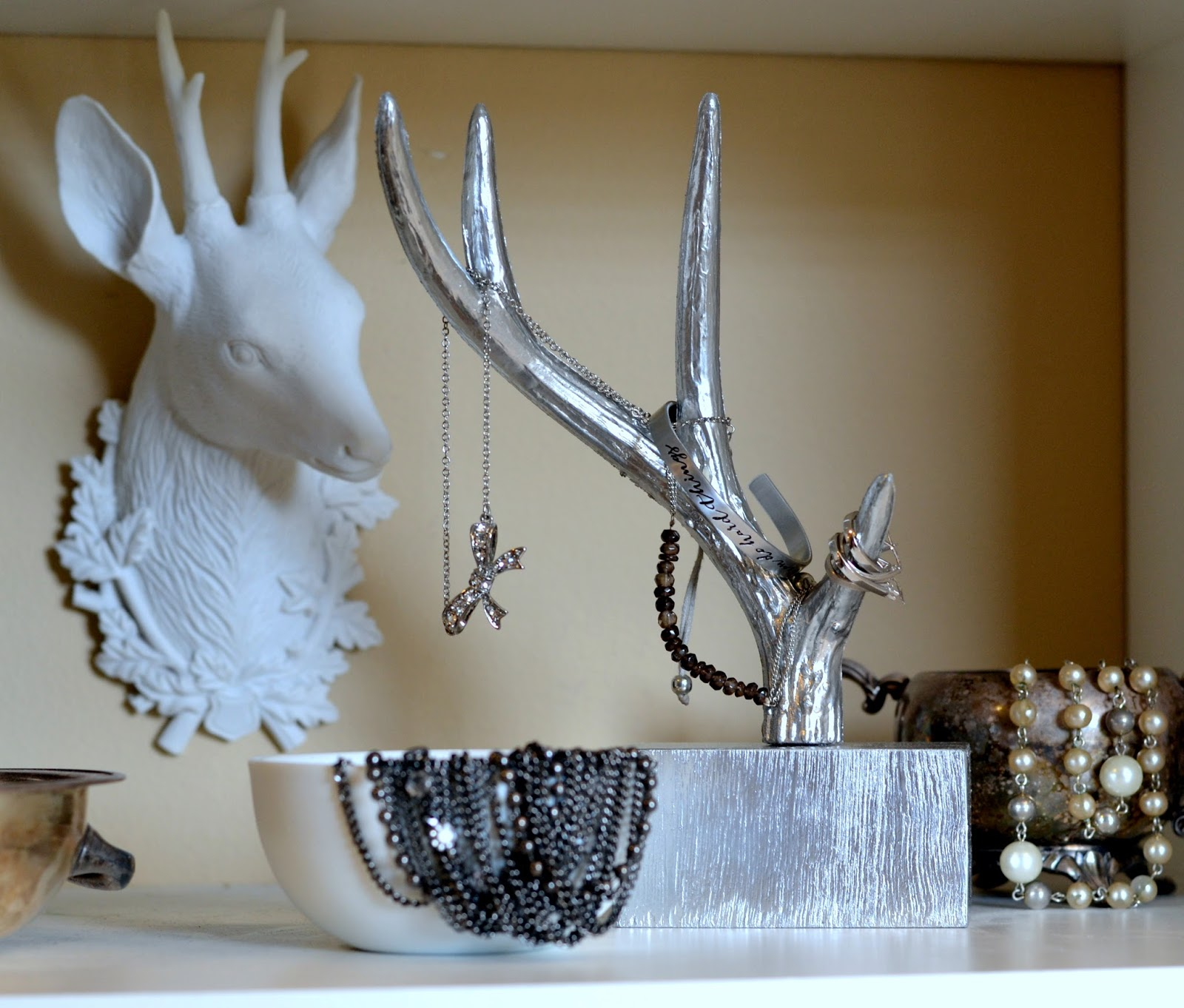 Silver Spray Paint Mirrored Chic Boutique