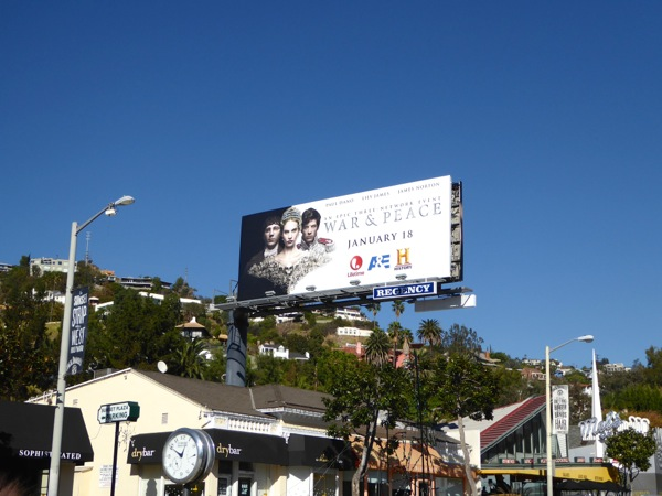 War & Peace TV miniseries billboard