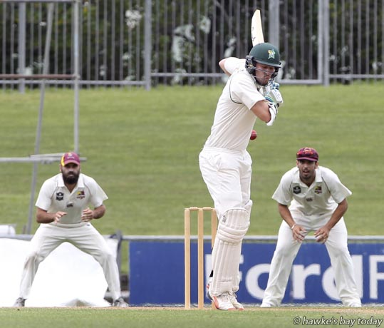 George Worker, Central Districts - cricket vs Northern Districts at McLean Park, Napier. photograph
