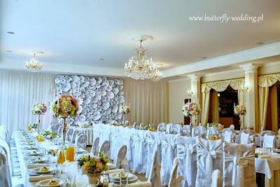dekoracja stołu weselnego (Hotel Fenix Morzyczyn)