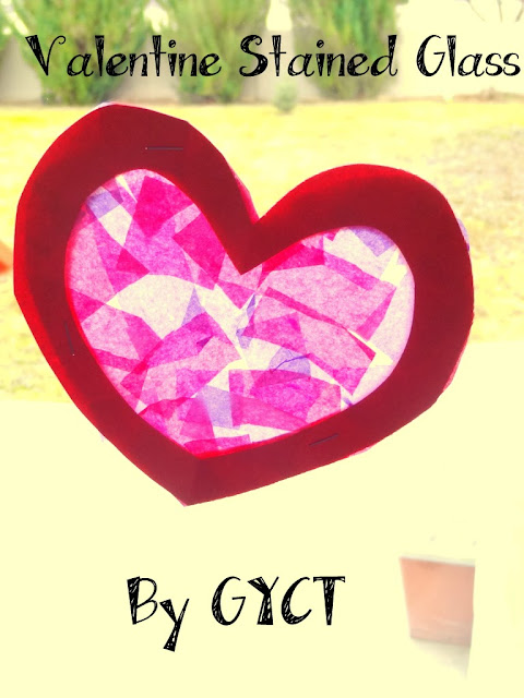 Create your own Valentine's decor with this fun valentine stain glass craft.