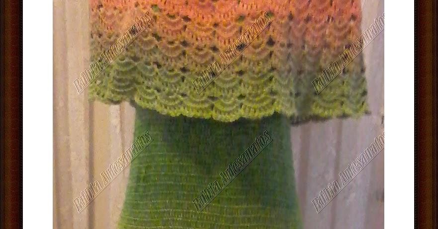 Tem Na Web - Vestido de Crochê com os fios Prisma