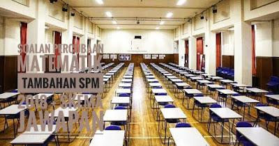 Soalan Percubaan Matematik Tambahan SPM 2018 + Skema Jawapan