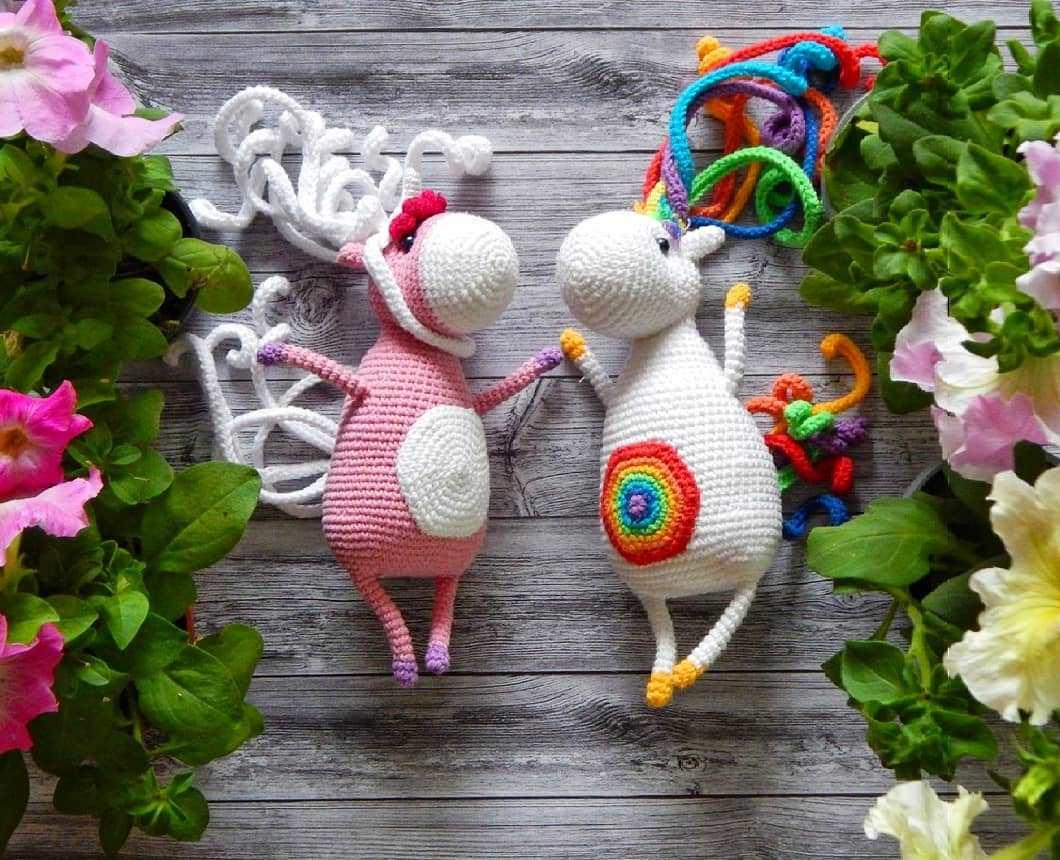 Crochet toys unicorns amigurumi
