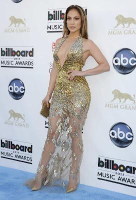 Vestido Dorado de Jennifer Lopez