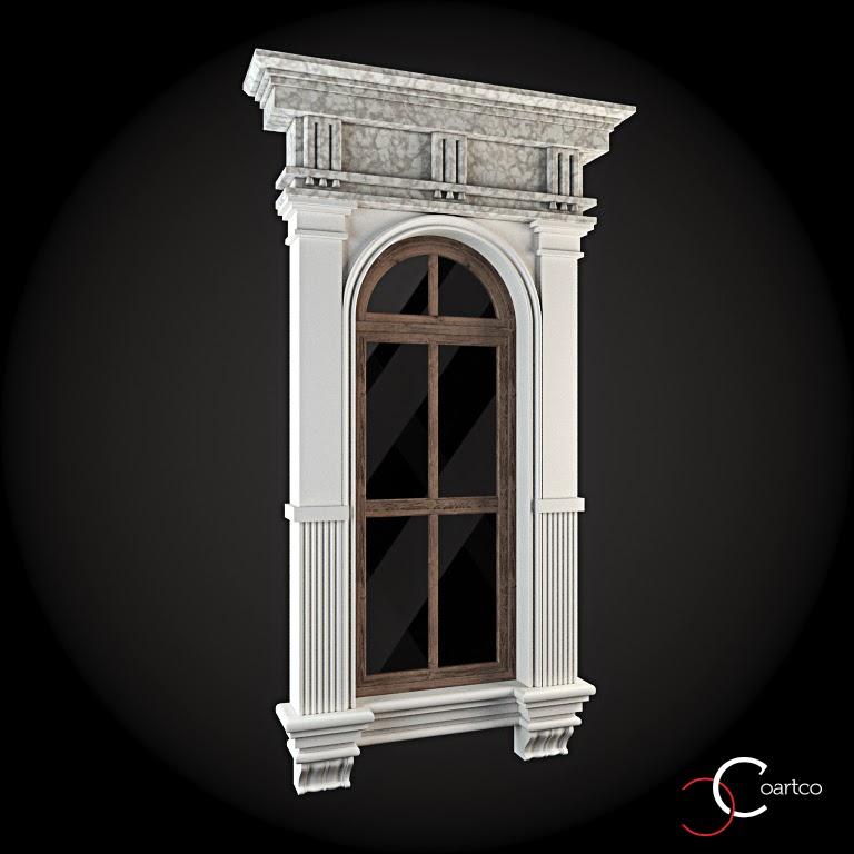 Ornamente Geamuri Exterior, Arcada fatade case cu profile decorative polistiren, profile fatada,  Model Cod: WIN-051