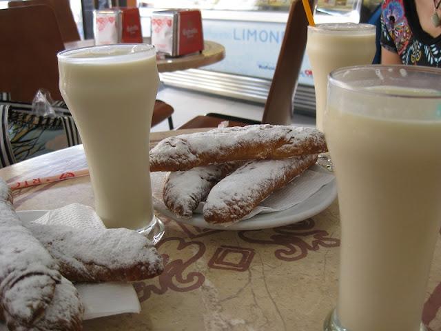 Bebida horchata em Barcelona