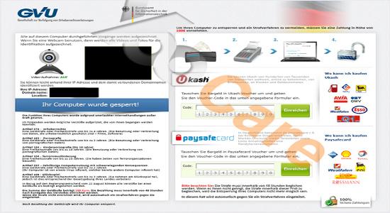 Entfernen Sie Adware: Entfernen GVU Bundesamt fr ...