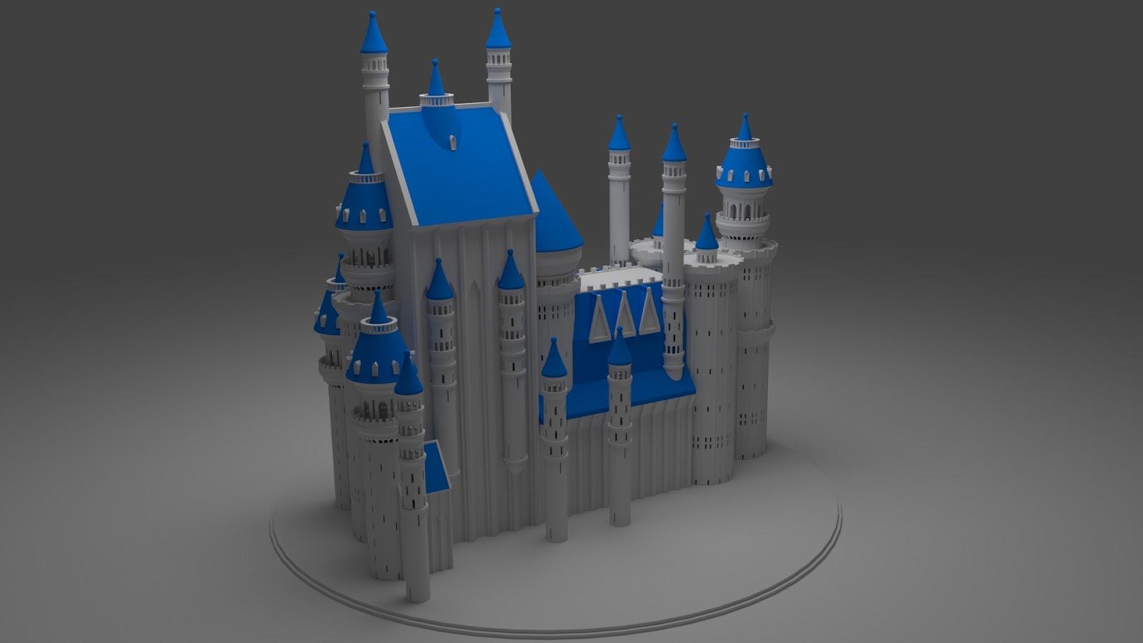 Free 3D Fantasy Medieval Castle .blend file