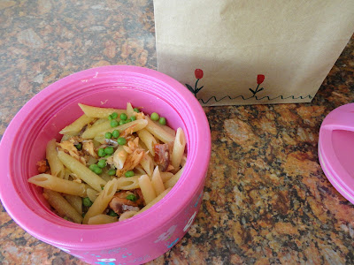 Leftover Salmon Pasta for a tasty Lunch