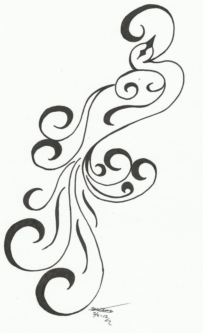 Cute Hairstyles Drawing Tattoo Designs Phoenix 03 The Collectioner