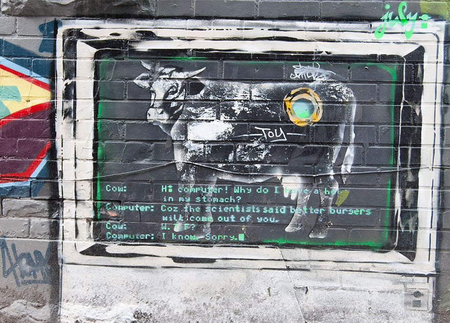 These 30+ Street Art Images Testify Uncomfortable Truths - Misunderstood Cow