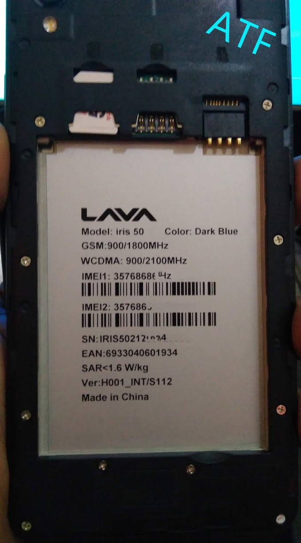 LAVA IRIS 50 FLASH FILE STOCK ROM MT6580 ANDROID 6.0